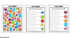 i spy shapes printable game for kids