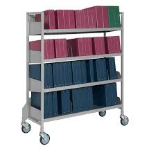 Mobile Chart Rack Flexfit Open Chart Racks Number Of Shelves 4 Cart Size Wide Bumpers No