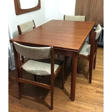 teak dining table and chairs room furniture fresh mid century danish expandable set