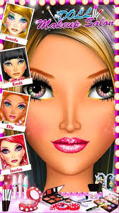 doll makeup salon s game android app screeshot