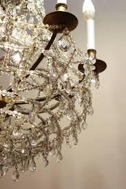antique austrian rock crystal chandelier detail 2