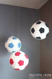 Soccer Bathroom Accessories Hanging Soccer Balls From Ikea Use For Table Numbers