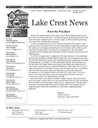 October 2015 Lake Crest News