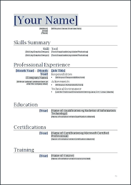 Resume Formats In Word Gorgeous Resume Layouts Word Curriculum Vitae Format Word Com Proforma Of