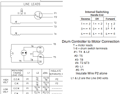 circuit diagram for connecting drum switch to reverse electric the motor to the drum controller for forward and reverse if you want to make it opposite change forward to be reverse change the t 5 and t8 wires