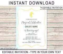 Party Invitations Templates Free Birthday Invitation Magic