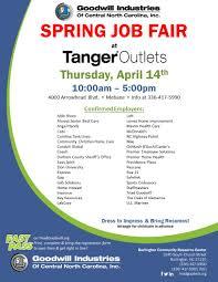 companies at spring job fair at tanger outlets com