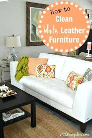 how to clean leather sofa with household products how to clean white leather furniture white leather