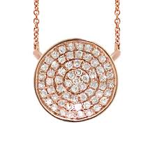 rose gold diamond disc by shy creations