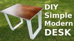build your own wood furniture. DIY Simple Modern Style Desk Build Your Own Wood Furniture