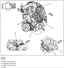 park ave exactly is the camshaft sensor located book says here are the steps to removing the camshaft sensor