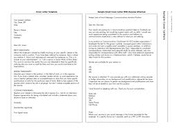 Sending Resume And Cover Letter Via Email Resume Email Cover Letter