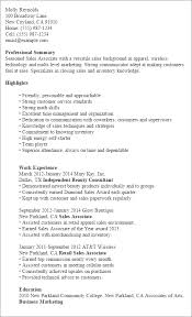 Resume Templates: Sales Associate