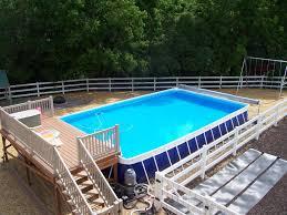 intex above ground swimming pool. Deck Ideas For Intex Above Ground Pools | Pool-decks-glittering-above- Swimming Pool N