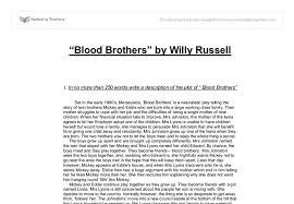 blood brothers synopsis gcse english marked by teachers com document image preview