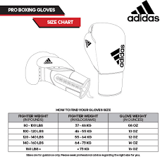Adidas Gym Gloves Size Chart 38 Reasonable Pro Boxing Gloves Weight