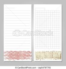 Notebook Templates Notebook Page Templates With Paper For Notes Memos Checklist