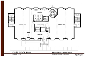 small office building plans. Commercial Office Building Plans First Floor Plan Small