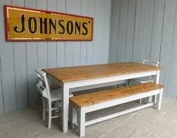 farmhouse table benches and chairs