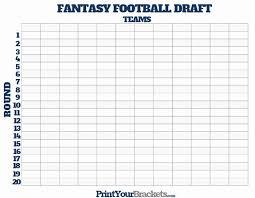 30 Fantasy Football Draft Template Pryncepality