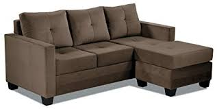 brown chaise sofa. Beautiful Brown Homelegance Phelps Contemporary Microfiber Sofa Chaise With Tufted Accent  Brown To