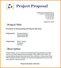 Business Proposal Cover Page Project Proposal Sample For Students Title Page Example 6 Trejos Co