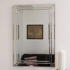 mirror 24 x 48. large modern venetian all glass double edged wall mirror 2ft x 3ft 60cm 90cm 24 48