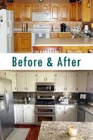 Painted Kitchen Cabinets Before And After Maple For An Amazing On Decorating