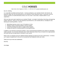 Resume Covers Best Assistant Teacher Cover Letter Examples LiveCareer 6