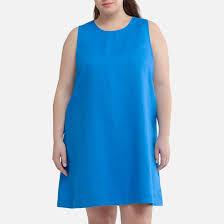 <b>Платье короткое расклешенное</b> из льна, без рукавов <b>La Redoute</b> ...