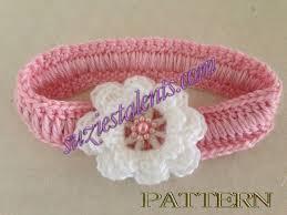 Crochet Baby Headband Pattern Extraordinary Crochet Baby Headband With Flower Pattern Crochet And Knit