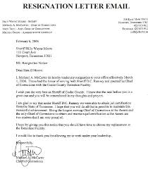 format for email cover letters sample cover letter for resignation email format of samples