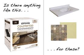 can you paint cultured marble or tile countertops