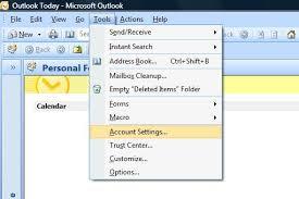 Create Outlook Setup A New Account Microsoft Outlook 2007