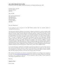 journalist cover letter sample cover letter sample  cover