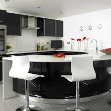 black and white kitchen ideas. Delighful Ideas Kitchen With Curved Worktop  Black And White Kitchens  10 Of The Best  On And White Ideas