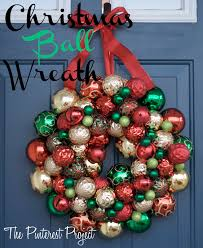 A Christmas-y Christmas Ball Wreath
