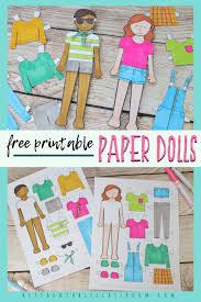 Younger kids will love playing fashion designer for a day and coloring them in with their. Printable Paper Doll Templates Color And Play The Kitchen Table Classroom