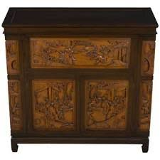 Vintage Antique Style Chinoiserie Bar Cabinet Liquor Drinks Cocktail  Cupboard Bar Cabinets For Sale S54