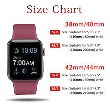 Apple Watch Size Chart Atup Compatible Apple Watch Band 38mm 40mm 42mm 44mm Women Men Soft Silicone Band Compatible Iwatch Series 4 Series 3 Series 2 Series 1