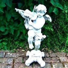 angel yard statues cherub garden statue cat memorial new lawn outdoor