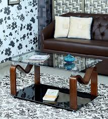 rosie tempered glass coffee table