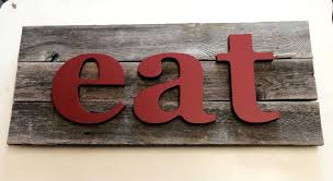 eat letters for kitchen eat sign wooden letters wall art fixer upper style in unbelievable pictures