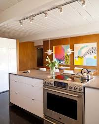 kitchen with track lighting. Fine Track Kitchen With Ceiling Track Lighting And White Cabinets Throughout
