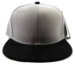 Wholesale Blank Snapback Hats \u0026 Caps - Gray | Black Brim