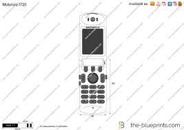 Motorola t720 vector drawing