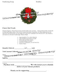 fundraising program wreath fundraiser school fundraiser wreath flyer