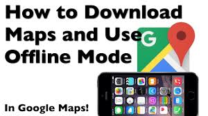 how to download a map to your iphone with google maps offline mode