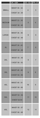 Jockey Mens T Shirts Size Chart Jockey Vest Size Chart