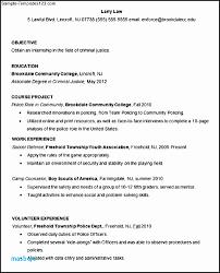 Sample Criminal Justice Resumes 9 10 Resumes For Criminal Justice Majors Juliasrestaurantnj Com